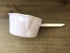 Pink Enamel Milk Saucepan With Spots