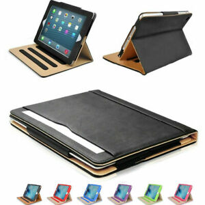iPad Case Soft Leather Wallet Magnetic Smart Cover Sleep Wake Stand for Apple