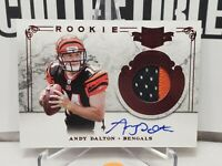 🔥📈 RARE ON CARD AUTO RC🔥 2011 Panini Plates & Patches Andy Dalton Rookie /499