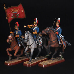 Tin soldier, The Light Dragoons United Kingdom, set of 3 miniatures 54 mm