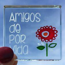 Spaceform Miniature Token Flor Roja amigos de por vida español Amistad Regalo