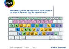 Adobe Photoshop pegatinas teclado (negro Letras) | Mac | Qwerty UK, US