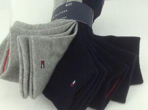 Women's TOMMY HILFIGER Socks, Blue Gray 80% COTTON Socks, 6 Pair, $36 MSRP🎾🎒