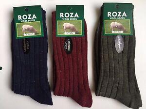 6 Pairs Men's Wool Socks Thick Chunky Work Hiking Boot Socks Size UK  6-11 LTHGF