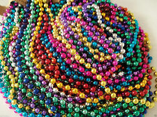 72 Multi-Color Mardi Gras Beads Necklaces Party Favors 6 Dozen Free Shipping Lot