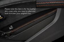 Cuciture color arancio 2x Porta BRACCIOLO PELLE COPERTURA Adatta per VW Polo MK8 09-15 3 PORTE