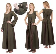 Mittelalter-Kleid Ärmel abnehmbar olive/braun Gr. S/M, L/XL, 2XL