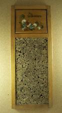 Original NORWEGIAN ROSEMALING VELKOMMEN Cork Bulletin Board Blue Green Ivory