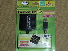 XBOX ORIGINAL CONTROLLER CONVERTITORE ADATTATORE PER PC USB NUOVO di zecca! SUPER JOY BOX 10