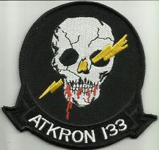 ATKRON 133 (VA-133) US NAVY ATTACK SQUADRON BLUE KNIGHTS MILITARY PATCH SKULL
