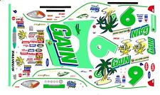 #9 Jeff Burton Gain 2002 Taurus 1/64th Ho Scale Slot Car Waterslide Decals
