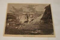 1879 magazine engraving ~ GENERAL VIEW OF CONSTANTINE, Algeria
