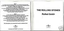"""Rolling stones """"reportées GOLD +"""" 2 CD-set promo extrêmement rar"""