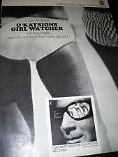 O'Kaysions original Rare 1968 #2 promo ad Girl Watcher