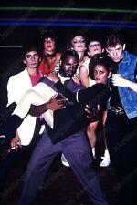 1981 candid portrait of punk rock dance troop 35mm slide transparency Vd5
