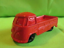 VINYL GUMMI PLASTIC   VOLKSWAGEN  TOMTE?   - VW BUS - 1:43   IN GOOD CONDITION