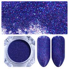 Nail Art Glitter Powder Holographic Blue Laser Powder  DIY Born Pretty