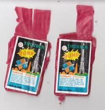 2 lot THUNDER BOMB FIRECRACKER LABEL - 16s -Flying Fairy Brand  - China  / a