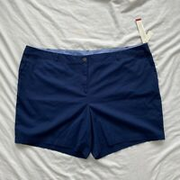Talbots The Weekend Short Super Soft Chino Womens Shorts Blue Size Plus 24W