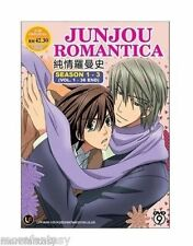 DVD Junjou Romantica Season 1 - 3 ( TV 1-36)  + Free Gift