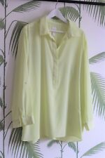 Chicos/CHICO'S - Light Vert Citron Chemisier-Taille 3 = XL taille 18-20 uk