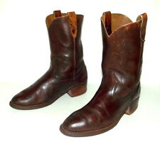 Mens 8.5 D Cowboy Boots Vintage Country Western Rockabilly Brown Old Biker Shoes