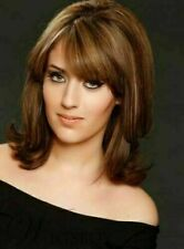 New Beautiful Medium Brown Straight Cosplay Party Synthetic Wig Hair