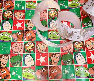 Toy Story Gift Wrap Set, Paper And Ribbon, see description