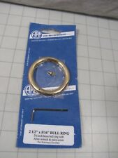 "Ape 2-1/2"" x 5/16"" Brass Bull Ring w/ Allen Wrench New"
