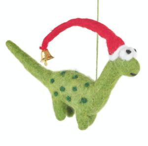 Handmade Felt Hanging Christmas Dinosaur Tree Decoration