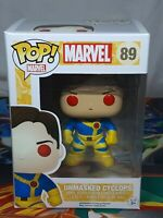 Marvel Unmasked Cyclops #89 Pop Vinyl Bobble-Head Figure Aus Seller