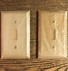 """Pair Vintage 1940's Bakelite """"Luminous"""" Toggle Switch Cover Plates By GITS"""