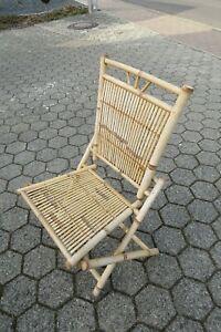 .alter Bambus Stuhl Klappstuhl