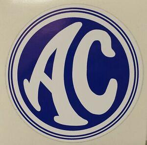 AC Ace, Bristol, Greyhound Cobra Aufkleber Blau/Weiß Sticker 88 mm blue/white
