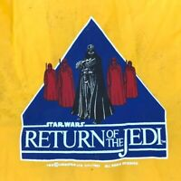 Rare Vtg '83 Star Wars Return of the Jedi Graphic Yellow Raincoat - Size M 12-14