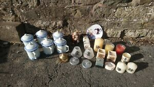 Joblot Of Chinese Oriental Candles And Tea Cups