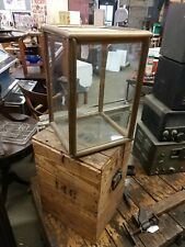 Unique ANTIQUE 19TH CENTURY glass Display VOTER BALLOT box with crate