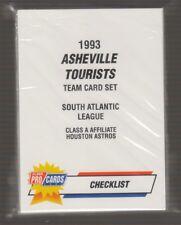 [11228] 1993 FLEER PRO CARDS MINOR LEAGUE ASHEVILLE TOURISTS TEAM SET - SEALED