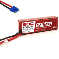 Dynamite Reaction 7.4v 5000mah 2S 50C Hardcase Lipo Battery EC3 Losi Vaterra ECX