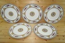 "Wedgwood W595 Columbia (5) Dinner Plates, 10 7/8"""