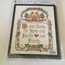 NMI Stitch 'N Frame Home and Hearth  Counted Cross Stitch Kit Cross Stitch New