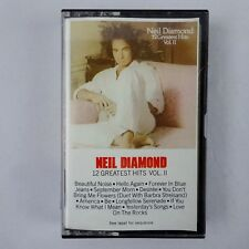 Neil Diamond 12 Greatest Hits Vol 2 Cassette 1982 CBS Records