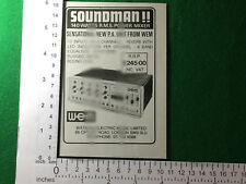Watkins WEM Soundman P.A. amplifier advert 1980