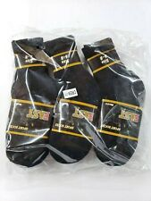 12 Pairs Boys Black Solid Sports Crew Socks  Long Size 6-8