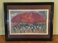Barbara A Wood Hand Pencil Signed & Numbered Framed Art