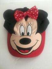 MINNIE MOUSE HAT Child one size baseball cap style with adjustable strap Disney