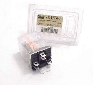 DAYTON 1EGF1 Side Flange Enclosed Power Relay (12VDC Coil) 5 Pin - SPDT - 1P