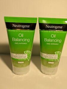 2 Count Neutrogena Oil Balancing With Lime & Aloe Vera Daily Exfoliator 5.07 Oz