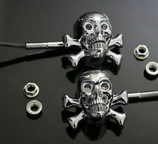 Skull Motorcycle FOR Harley 4r BMW Ducati GO CART Buggy LED Turn Signals Light