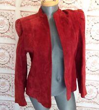 VINTAGE Gloria Vanderbilt Red Suede Jacket Leather Sexy Women's M Medium